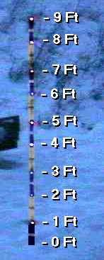 Sample snowstick picture explaining the markings.